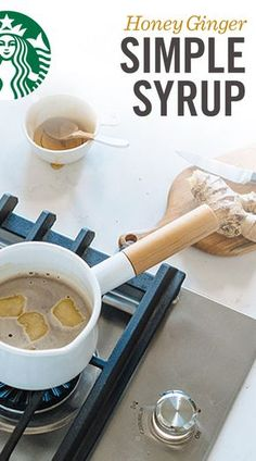 Create your own honey ginger simple syrup at home and taste the difference in your Starbucks® coffee. Tea Recipes, Coffee Recipes, Cocktail Recipes, Fall Recipes, Recipies, Ginger Coffee, Ginger Drink, Coffee Mix, Iced Coffee