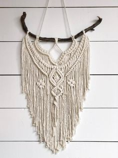 Your place to buy and sell all things handmade - Macrame Wall Hanging – Medium Wall Hanging – Wall Decor – Boho Style Wall Hanging – Bohohem - Large Macrame Wall Hanging, Macrame Plant Hangers, Macrame Curtain, Macrame Design, Macrame Art, Macrame Projects, Macrame Knots, Macrame Patterns, Macrame Wall Hanging Patterns