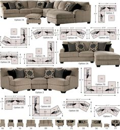 Ashley - millennium - wilcot - sectional