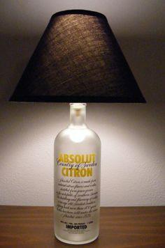 Absolut bottle lamp