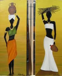 africanas - Buscar con Google African Beauty, African Women, African Fashion, Afrique Art, African Art Paintings, Oil Paintings, African Theme, Afro Art, African American Art