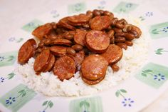 Red Beans & Rice with Sausage- I made this for dinner tonight and it was great! It was super-quick and easy to make-- 20 min. start to finish. And it was delicious! Everyone loved it! Next time I will make more so we'll have leftovers. And maybe I'll make cornbread to go with it, too. Yum!!