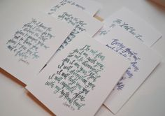 Scripture Note Cards and Set by PrairieLetterShop on Etsy