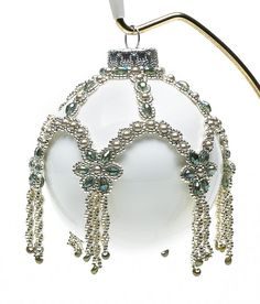 Petals and pearls ornament cover- I seriously think you could do this to a globe light cover- hmmm, the mind swirls....