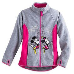 Mickey and Minnie Mouse Fleece Jacket for Girls - Walt Disney World