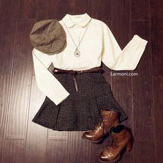 Peter Pan Collar Polka Dots Shirt