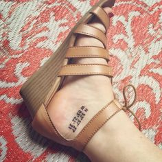 ankle coordinates tattoo