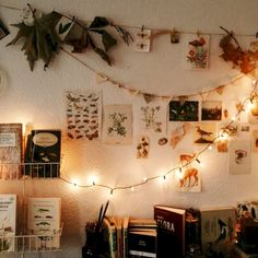 Fairy lights make your shared room really cozy - Zimmer Pflanzen - Dorm Room Decoration Bedroom, Room Decor Bedroom, Bedroom Ideas, Girls Bedroom, Cozy Bedroom, Adult Bedroom Decor, 70s Bedroom, Bedroom Lighting, Bedroom Inspo