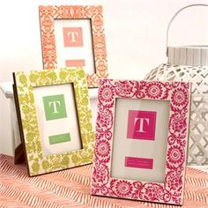 Hand Painted Picture Frames by Two's Company