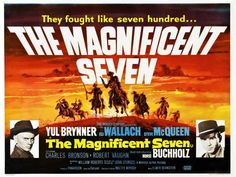 The Magnificent Seven (UK) 30x40 Movie Poster (1960)