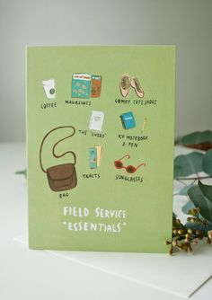 JW Field Service Essentials Greeting Card by SeasonedWSalt