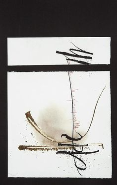 Aleph-Oneness by Izzy Pludwinski -  Original: masking fluid on torn paper, Sumi ink, walnut ink, gouache, ruling pen, broad edged pen, 1999
