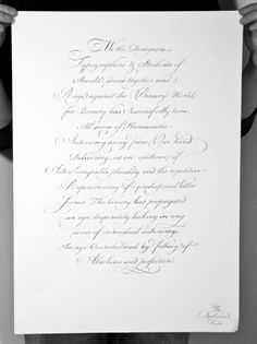 The Disillusioned Hand – copperplate scripted poster Calligraphy Templates, Calligraphy Text, Typography Letters, Lettering, Penmanship, Pens, Design Inspiration, Study, Inspired