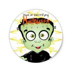 #party - #Halloween Frankenstein Monster Whimsical Spooky Classic Round Sticker