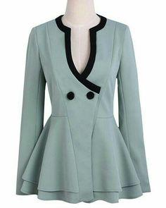 It would never fit me, but I loooove this blazer, and I don't even like peplum Peplum Blazer, Blazer Jacket, Peplum Jacket, Schneider, Business Attire, Jacket Style, Blouse Designs, Mantel, Autumn Fashion