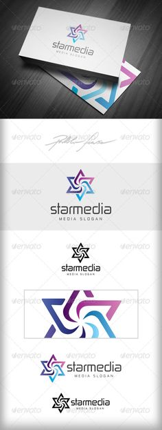 Star Media  Spiral Star  Media Ad Agency Logo — Vector EPS #star group #connected • Download here → https://graphicriver.net/item/star-media-spiral-star-media-ad-agency-logo/4959499?ref=pxcr