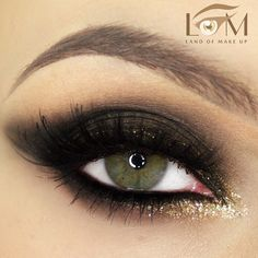 Smoky with Gold Shimmer by @landofmakeup | #eotd #inspiration #Pampadour www.pampadour.com