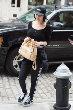 e32a9ee784e How Gigi and Bella Expertly Embraced Athleisure With 17 On-Point Outfits. Givenchy  HatStreet ...