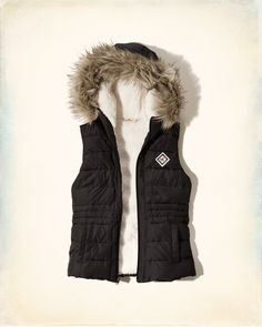 Girls Hollister Sherpa Lined Hooded Puffer Vest | Girls Jackets & Outerwear | HollisterCo.com