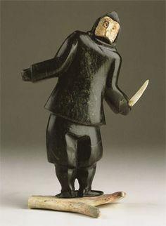 Owl Shaman (2002) by Samonie Toonoo, Inuit artist (Q40617)