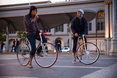 chatting on bikes - NO SMOKING