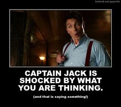 Captain Jack Harkness <3 Only going in this board because whatever it is that he's hearing has *got* to be absolutely terrible!