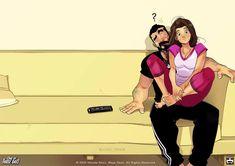 Love Cartoon Couple, Cute Couple Comics, Couples Comics, Cute Love Cartoons, Cute Couple Art, Cute Couple Quotes, Cute Comics, Funny Couples, Funny Comics