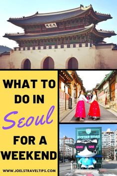 If you're looking to spend a weekend in Seoul then this is the guide for you. With more than 20 ideas, your weekend in Seoul will be an amazing experience. Travel Advice, Travel Guides, Travel Tips, Travel Abroad, South Korea Travel, Backpacking Asia, Seoul Korea, China Travel, Travel Destinations