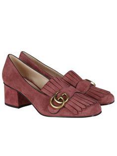 ee989d8d9279 GUCCI Gucci Suede Mid-Heel Pumps.  gucci  shoes  gucci-suede-mid-heel-pumps
