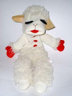 Talking Lamb Chop Sheep Hand Puppet Shari Lewis Aurora Tags $13.50 #toys #lamb #lambchop