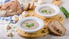 Krémová šampiňónová polievka   Recepty.sk Pavlova, Hummus, Camembert Cheese, Ethnic Recipes, Food, Hampers, Diet, Lasagna, Essen