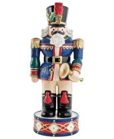 Fitz and Floyd Blue Nutcracker Collectible Figurine