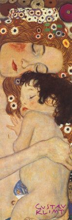 Three Ages of Woman - Mother and Child, (detail) by Gustav Klimt art print, praying, sending ministering angels of heart health to her room Gustav Klimt, Art Klimt, Inspiration Art, Mother And Child, Art Plastique, Oeuvre D'art, Love Art, Painting & Drawing, Amazing Art