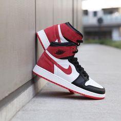 info for 74ddb f0fb9 575441-112 Nike Air Jordan 1 Retro High OG BG Track Red   KicksCrew   Shop  and Buy it Now!!