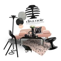 """diva noir..."" by ian-giw ❤ liked on Polyvore featuring interior, interiors, interior design, home, home decor, interior decorating, Ilomio, Jayson Home, ibride and Zuo"
