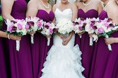 What a gorgeous group of bouquets!