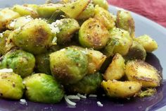 Rachael Rays' brussel sprout recipe. Tried this recipe for my first time trying brussel sprouts and its AMAZING.