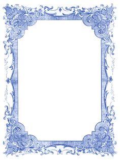 Vintage Blue Frames and Stars – Hanukkah