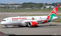 new stickers on this Kenyan. 5Y-KZG. Boeing 787-8 Dreamliner. JetPhotos.com is the biggest database of aviation photographs with over 3 million screened photos online!