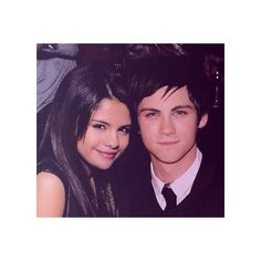 logan lerman and selena gomez ❤ liked on Polyvore