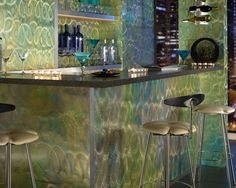 Outwater has taken the initiative by shocking the market with the introduction of Fusion Swirl Aluminum Sheets mechanically etched and infused with multiple colors utilizing a proprietary fusion process that generates breathtakingly vibrant, asymmetric designs that dance and shimmer with light to yield unprecedented works of art.