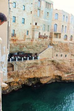 Grotto dining in Polignano de Mare. (A. Carman)