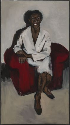 Exhibitors | Frieze London    Oyster  Lynette Yiadom-Boakye    Price unspecified    2012  Painting  100cm x 180cm  Shown by        Corvi-Mora      http://www.corvi-mora.com/      info@corvi-mora.com      +44 20 7840 9111    Contact        Clare Holden      Tabitha Mackness      Tommaso Corvi-Mora