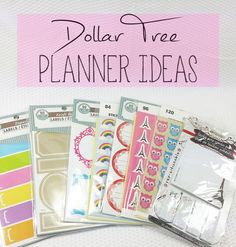 Maybe I'll eventually get myself a planner! dollartree Planner Decor Ideas || Super Cute && Cheap!