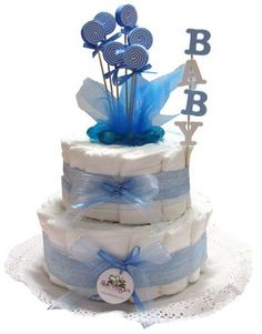torta de pañales para baby shower - Buscar con Google