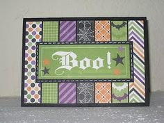 strips would look good with the stampin up Halloween paper also could see this as a Christmas card design ;).  Could even do this with scraps.