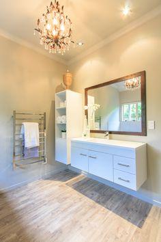 #bathroom #bathroomlayout #floatingvanity #chandelier #interiordesign