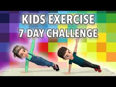 7 Day Kids Exercise Challenge: Get Stronger, Burn Calories Fitness Games For Kids, Home Games For Kids, Physical Activities For Kids, Physical Education Games, Toddler Activities, Kids Fitness, Elderly Activities, Movement Activities, Group Activities