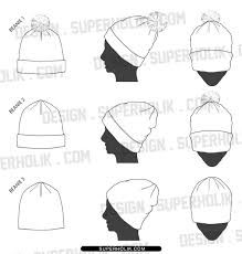 fashion hat template - Google Search
