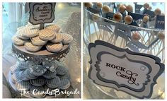 White & Silver Wedding Candy Table by The Candy Brigade  #candybuffet #chocolateoreos  #rockcandy #blingwedding